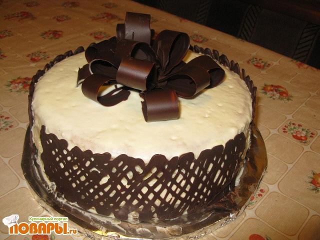 как оформить торт в домашних условиях шоколадной глазурью рецепт с фото