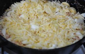 креветки с яйцами