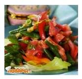 Корейский салат со спаржевой фасолью