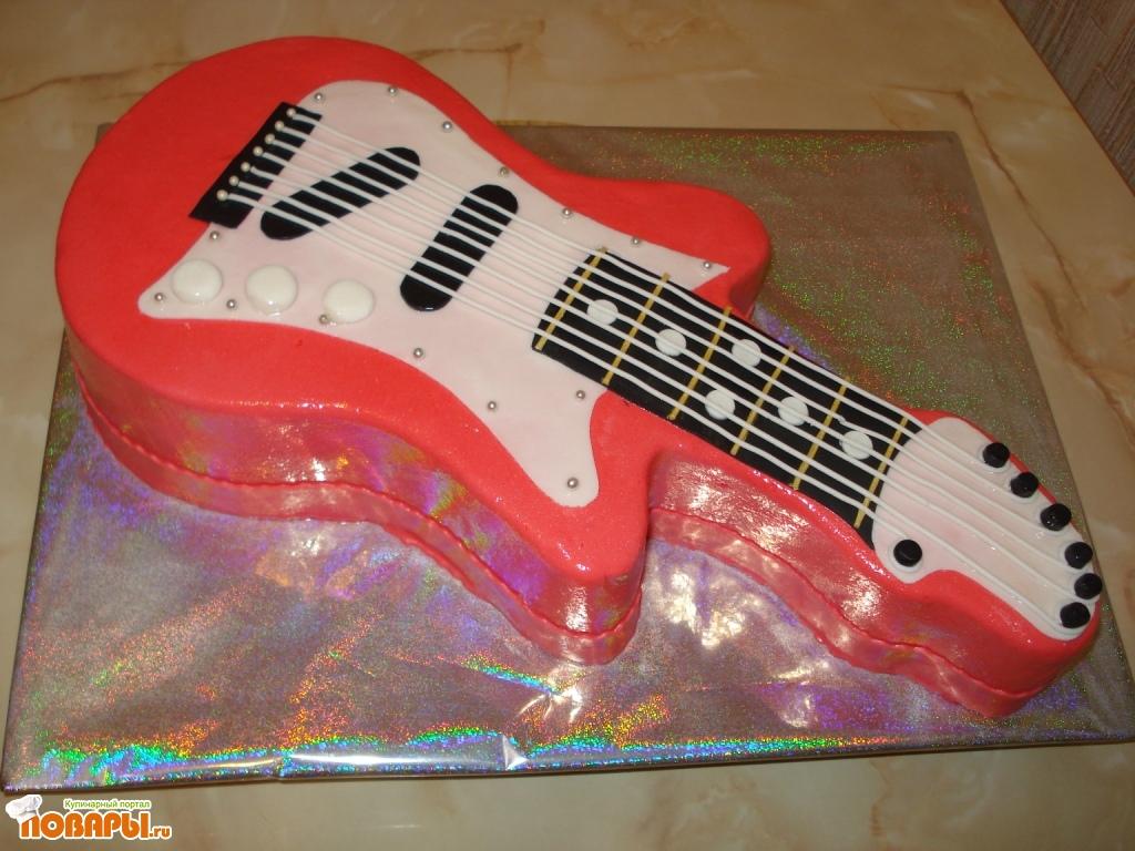 Торт гитара как его сделать 529