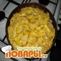 Картофельная запеканка с грибами и курицей