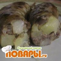 колбаска с картофелем