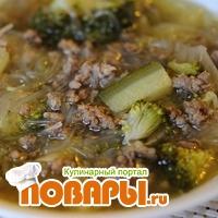 Суп с рисовой лапшой «по Китайски»