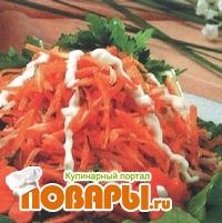Морковный салат с сельдереем  Морковный салат с сельдереем