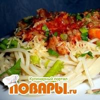 Спагетти с острым апельсиново-томатным соусом