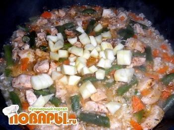 Рис с зеленой фасолью – кулинарный рецепт