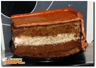 Торт-мусс с грецкими орехами и горьким шоколадом
