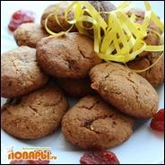 Овсяное печенье с финиками, курагой и свежим виноградом (без сахара)