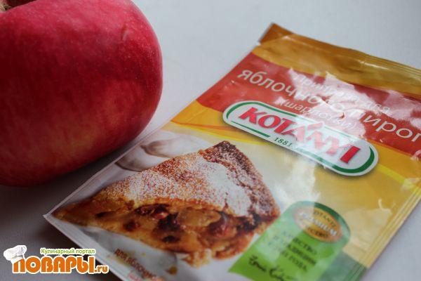 Яблочный рулет из постного заварного теста