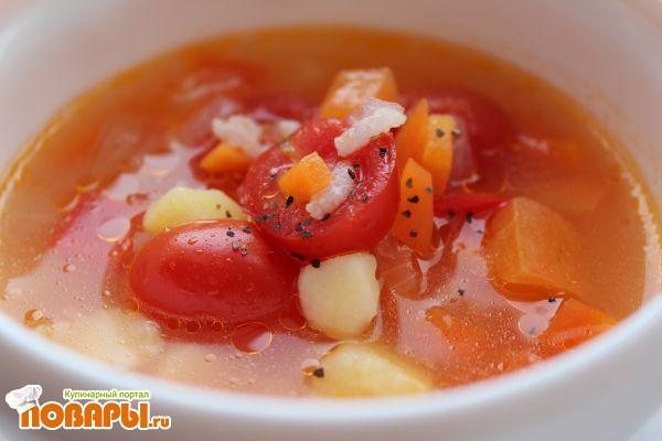 Суп из свежих помидоров рецепт с фото