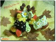 Ванильные кексы с бананом и киви