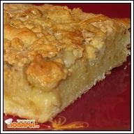 Пирог с яблочно белковой заливкой  Пирог с яблочно белковой заливкой