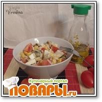 Салат импровизация с мидиями