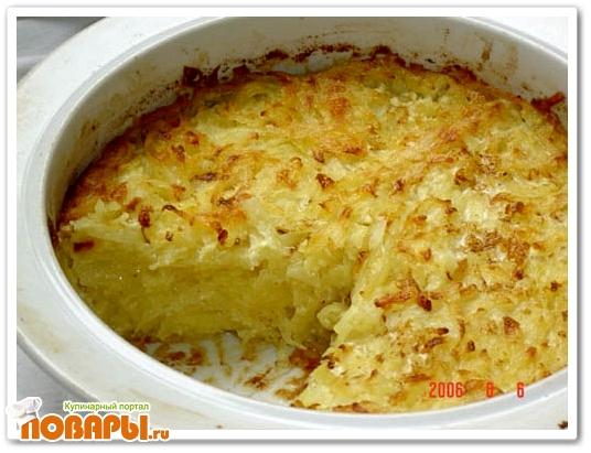 Тертая картошка в духовке