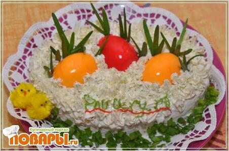 пасхальные рецепты салатов с фото