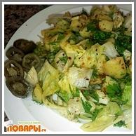 Картофельный острый салат  Картофельный острый салат