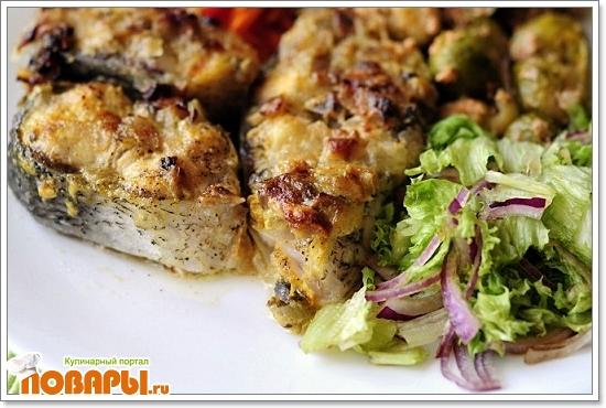 рыба в грибном соусе