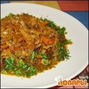 Тушеная капуста с мясом и грибами  Тушеная капуста с мясом и грибами