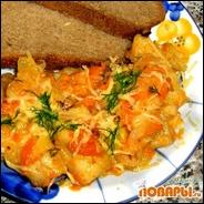 Рыба -Быстрая- с овощами