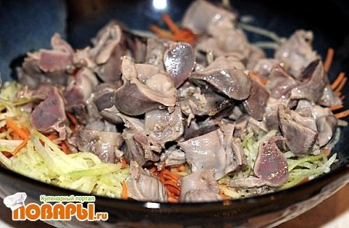 Салат Куриные пупки по Корейски