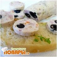 Salsiccia di pollo con olive или Куриная колбаса с маслинами