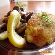 Картофельные «котлетки-пирожки» начиненные грибами
