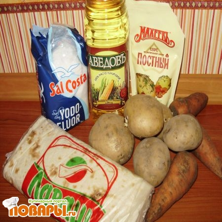 ингредиенты на лаваш