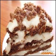 Мини-тортик шоколадный с постным кремом