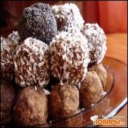 Шоколадно-миндальные конфеты