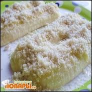 Банановый десерт с кунжутом и медом
