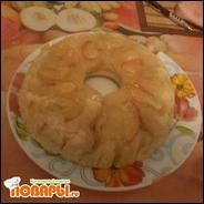 Кекс карамельный с яблоками и бананами