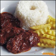Мясо под какао соусом