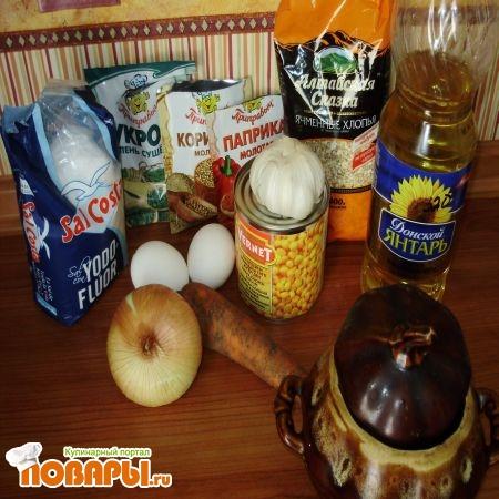 ингредиенты на омлет с ячкой