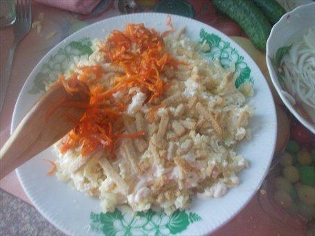 Картофель, морковь в салат