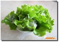Листья салата с творожной начинкой