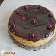 Вишневый торт, приготовленный в мультиварке