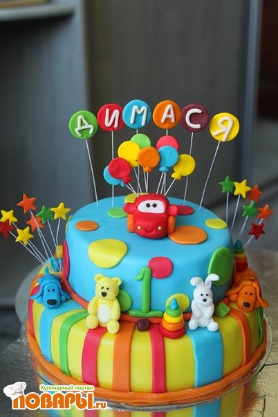 Торт на 3 года своими руками