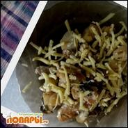 Теплый картофельный салат ассорти