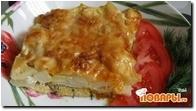 Лосось, запеченный с картофелем и сыром