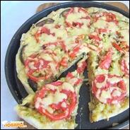 Овощная пицца с баклажаном