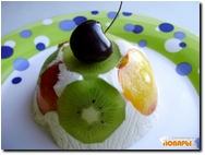 Творожное желе с фруктами