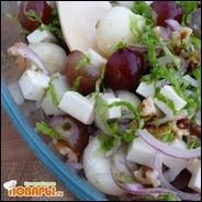Салат из дыни и винограда