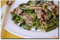 Салат со стручковой фасолью китайский