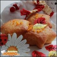 Цитрусовые постные кексы с апельсиновым соком и цедрой