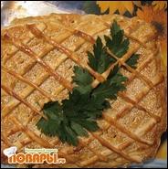 Курник с куриным мясом, морковью и картофелем
