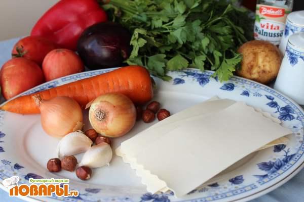 Веганская лазанья с баклажанами и картофелем