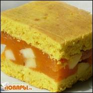 Лимонный пирог с тыквенно-яблочной начинкой