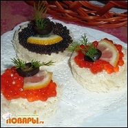 Бутерброды с Икрой «Заманюньки»