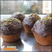 Шоколадные маффины с кофейной начинкой