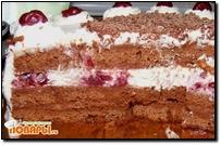 Торт-сердце «Шварцвальд» или «Черный лес»